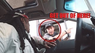 Blasting LOUD MUSIC At The DRIVE THRU!! (never again)