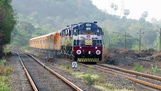 India's 1st High Speed Luxurious Mumbai - Goa TEJAS EXPRESS : INAUGURAL RUN : INDIAN RAILWAYS