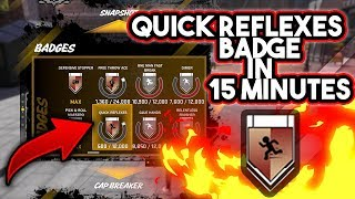 NBA 2K18 || HOW TO GET THE QUICK REFLEXES BADGE IN 15 MINUTES 😱