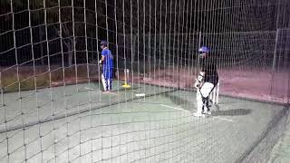 Rony dewan practices in  nets.