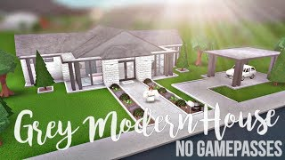 Bloxburg: Grey Modern House (No Gamepasses) 42K