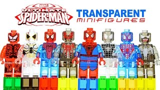 Lego Amazing Spider-Man Transparent Knockoff Minifigures w/ Venom & Carnage