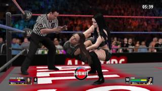 WWE 2K16 Paige VS Stephanie McMahon In A Ironman Match For WWE Divas Title