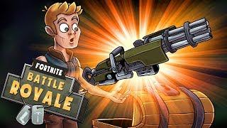 Fortnite - NEW UPDATE: Legendary MINIGUN is Overpowered! (Fortnite Battle Royale)