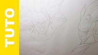 Comment dessiner Goku SSJ3 Dragon Ball Z Tutoriel