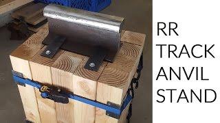 Making a Railroad Track Anvil Stand