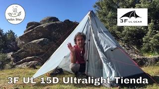 3F UL Ultralight Solo 15D Tienda Tent 1 capa 1 persona Preview (subtitles)