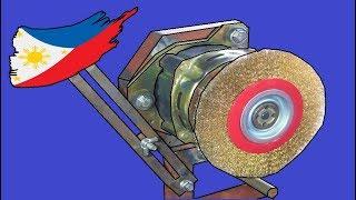 Wirebrush Machine Using Washing Machine Motor
