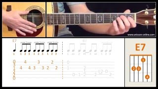 Blues en Mi ( Chicago blues/shuffle ) - Cours de guitare. Tuto + Tab