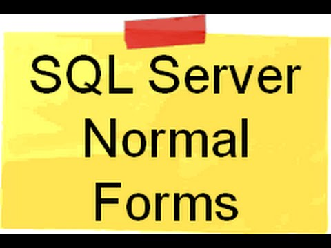 SQL Server :- Can you explain First,Second and Third normal form in SQL server ?