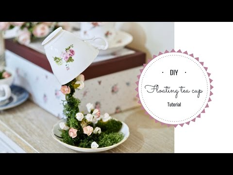 Floating tea cup tutorial, how to make a floating tea cup.