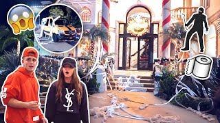 SOME YOUTUBER TP'D THE TEAM 10 MANSION?! **HELP US**