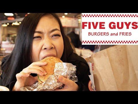 Chinese Girl Tries 5 Guys Burgers