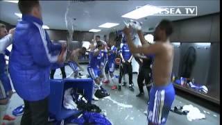 Chelsea FC - FA Cup Final 2012 dressing room celebrations