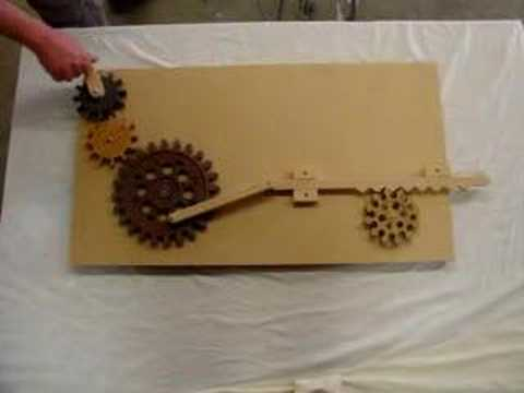 Wooden Rack and Pinion for EED