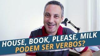 Verbos em inglês que você nem imagina |  to house, to milk, to book, to hand