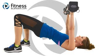 Get Strong! Upper Body Workout for Arms, Shoulders, Chest & Back (Descending Reps)
