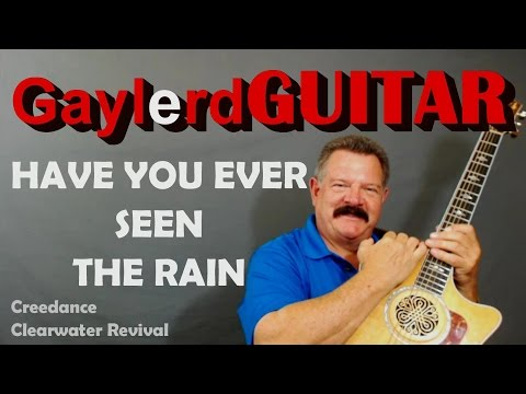 """CCR  """"HAVE YOU EVER SEEN THE RAIN"""" guitar lesson"""