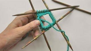 Socken Stricken #04 * Maschenanschlag mit Nadelspiel 4+1 stricken