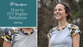 Raglan T-shirt Refashion: DIY Raglan tee | Spoonflower Tutorials