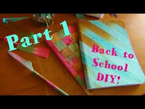Xxx Mp4 DIY Back To School ♥ Silk Ribbon Notebooks 3gp Sex
