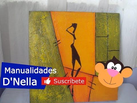 Manualidades Cuadros Abstractos 01 By Taller Dnella 2013