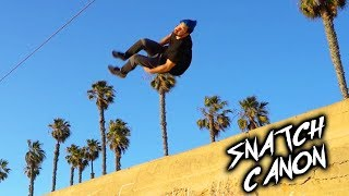 Learning Snatch Canon / Cork In! (Insane Parkour Trick)