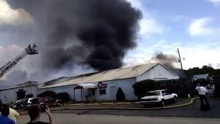 Mack's Auto Recycling Fire in Champaign County in Urbana, IL on July 15, 2016