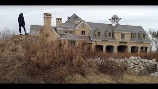 Biking on a mountain, crazy abandon mansion and water towers
