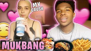 GETTING TO KNOW MY CRUSH MORE! (I'm taking her out on a date) *mukbang*
