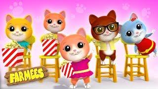 Five Little Kittens | Kindergarten Nursery Rhymes For Kids