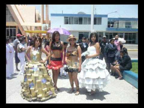 I concurso de Trajes hechos con Material de Reciclaje 2011 ISEP La Inmaculada Camana