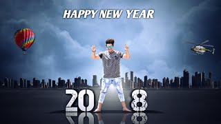 Happy New Year - 2018    PicsArt Photo Editing    PicsArt Manipulation Editing Tutorial