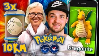 Pokemon GO - MUM CATCHES DRAGONITE + x3 *10km* EGGS!