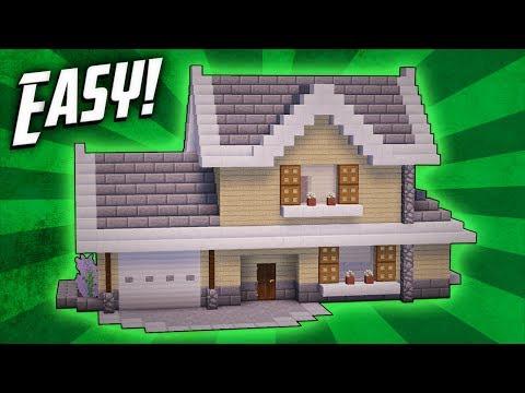 Minecraft: How To Build A Suburban House Tutorial
