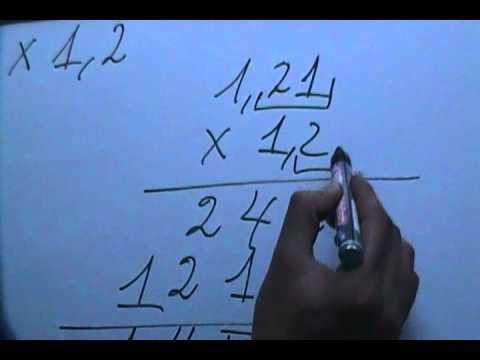 Multiplicación de decimales