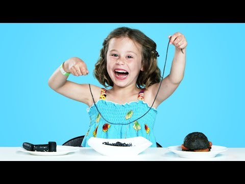 Kids Try All Black Colored Foods Kids Try HiHo Kids