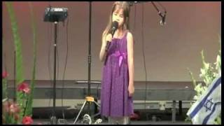 7 Year-Old Sings at Grandfather's Funeral - Wise Beyond Her Years