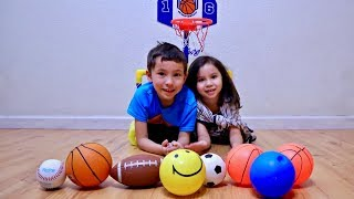Learn Different Ball Names for Toddlers and Children with Sport Toy