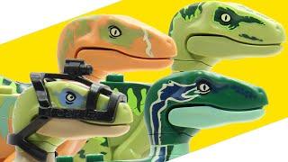 LEGO Jurassic World Raptor Pack Animated Build