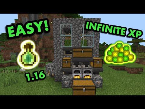 EASY 1.16 XP FARM TUTORIAL in Minecraft Bedrock MCPE Xbox PS4 Nintendo Switch Windows10