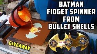 Casting Brass Batman Fidget Spinner from Bullet Shells