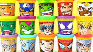 Play Doh Marvel Avengers 15 Can Heads Plastilina