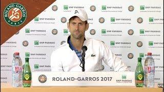 Novak Djokovic - Press Conference after Quarterfinals 2017 | Roland-Garros