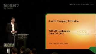 NOAH12 San Francisco - Criteo, John Kelly