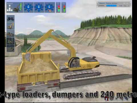 PC video game Digger Simulator control your own earth moving equipment game