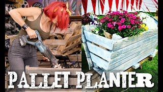 How to build a pallet trough garden planter - Super Easy!