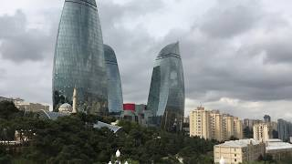 Baku Panorama @ Waterfront, Shahidlar Monument and TV Tower