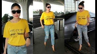 Kareena Kapoor In Yellow Top At Airport