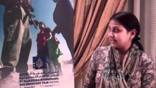 Visitor  Hummaira- أحدى الزوار للمهرجان  هميرا - Aljazeera film